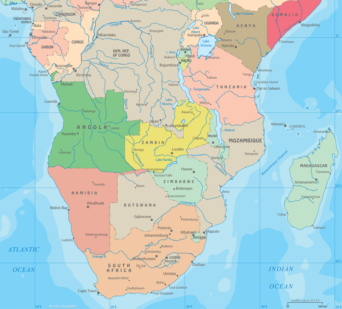 Political Map of Central and South Africa on physical regions of africa, physiographic map africa, geographic features of africa, world atlas africa, landforms and waterways in africa, atlas mt africa map, world map with africa, cameroon africa, bodies of water near africa, independence in africa, atlas of asia's physical features, landforms in west africa, physical landscape of africa, canary islands africa, atlas of southeast asia, atlas map of asia, landmarks in central africa, atlas of north africa, phyiscal atlas of africa, online atlas of africa,