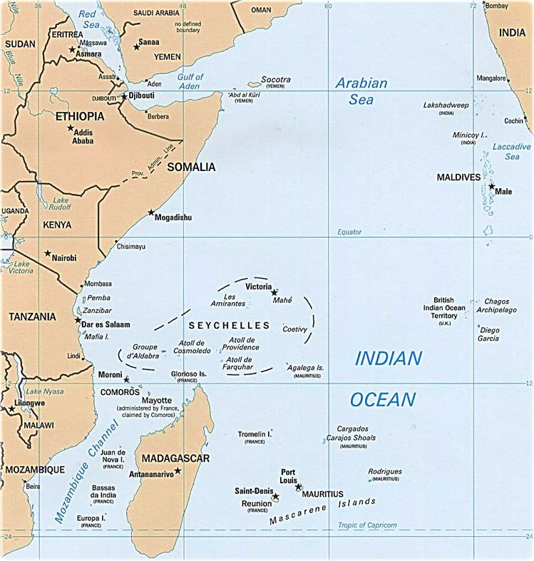 Indian ocean area map africa asia oceania and antarctica map indian ocean publicscrutiny Choice Image