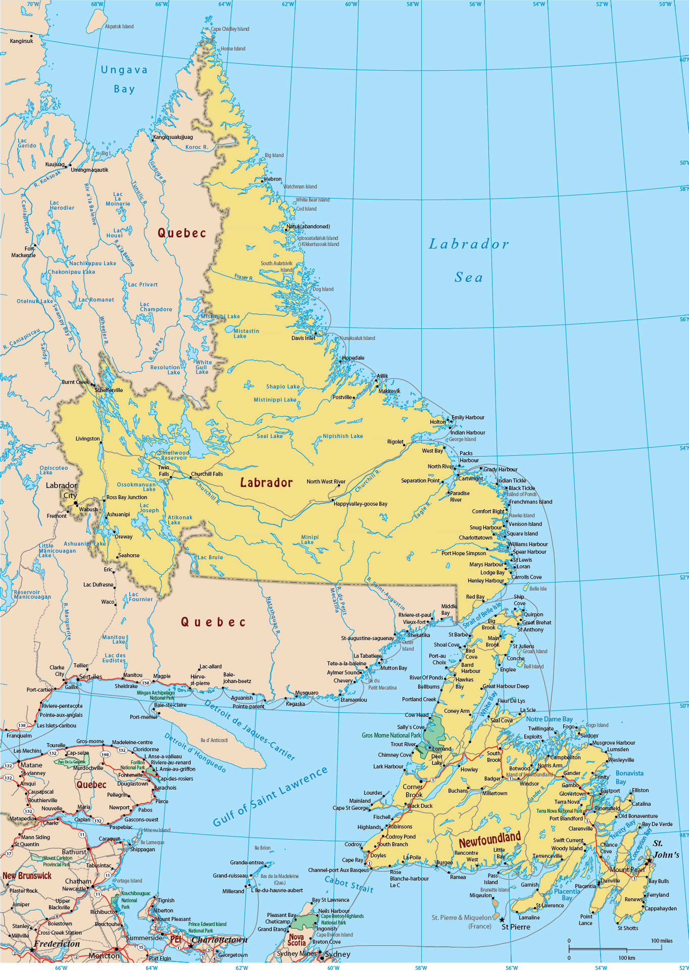 Picture of: Map Of Newfoundland And Labrador