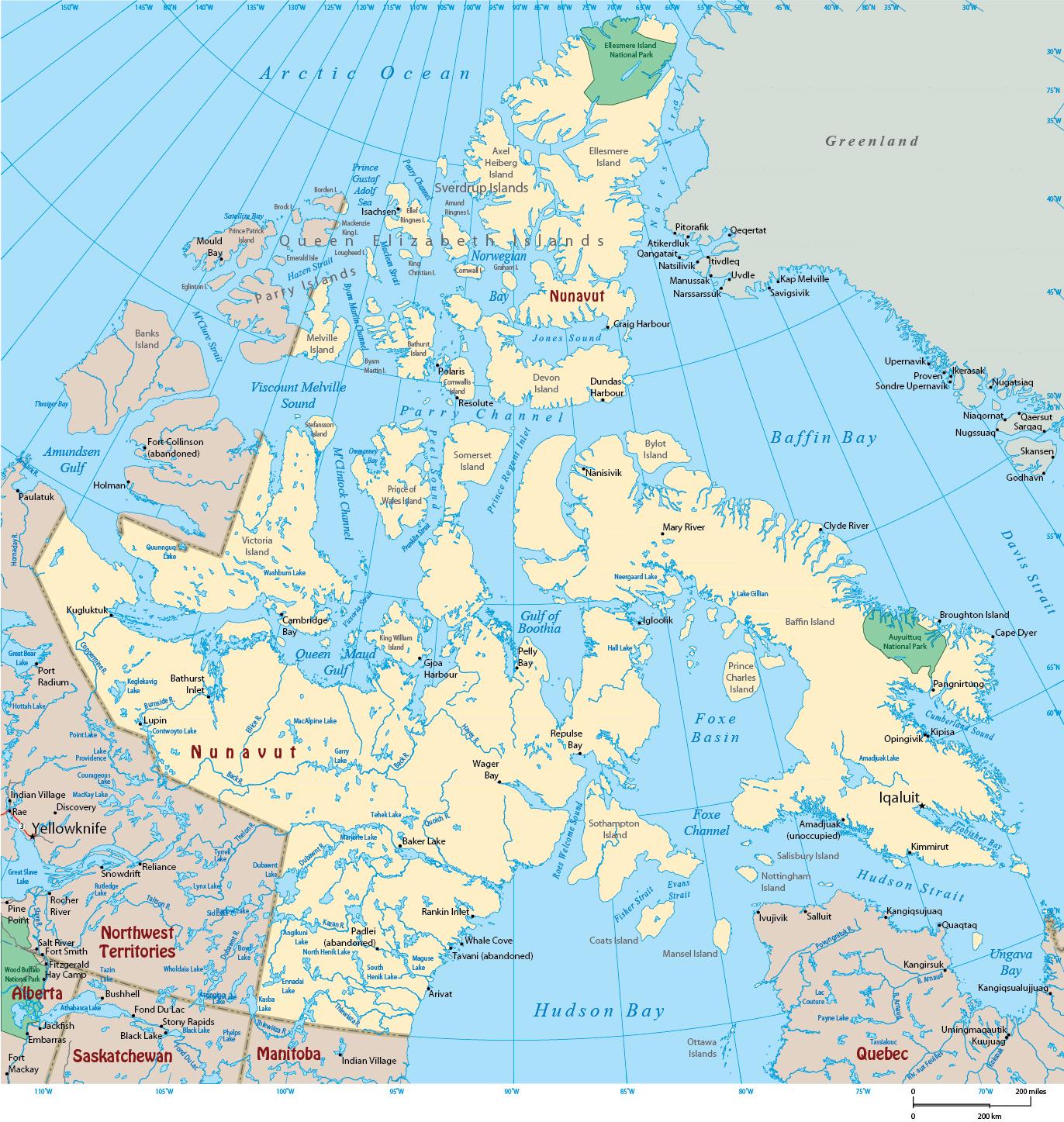 Map Of Canada Nunavut.Map Of Nunavut Canada