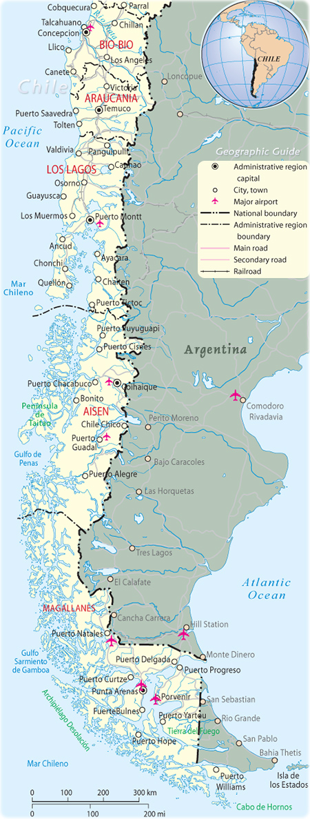 Map of North Chile