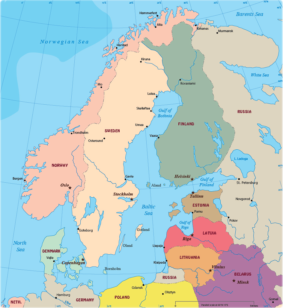 Picture of: Political Map Of Baltic Sea Region