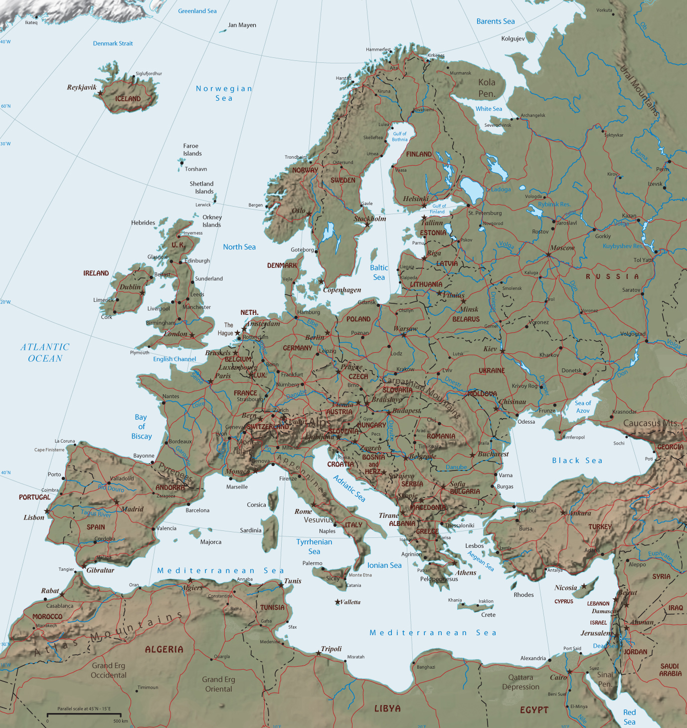 Maps world geographic guide travel european continent north america political map gumiabroncs Image collections