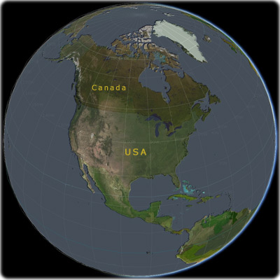 Maps Of USA - Globe of usa