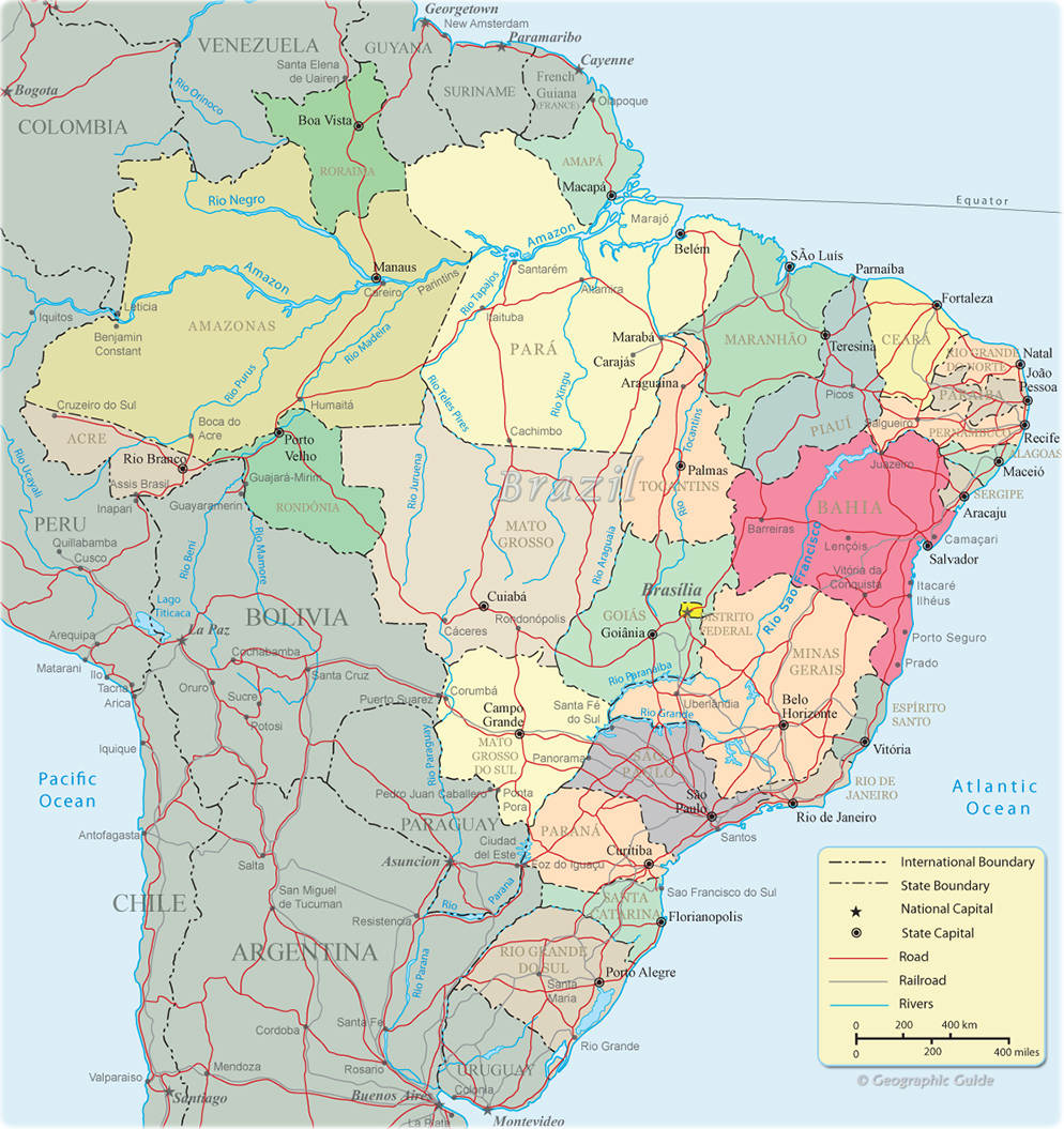 Brazil political map political map brazil world maps gumiabroncs Image collections