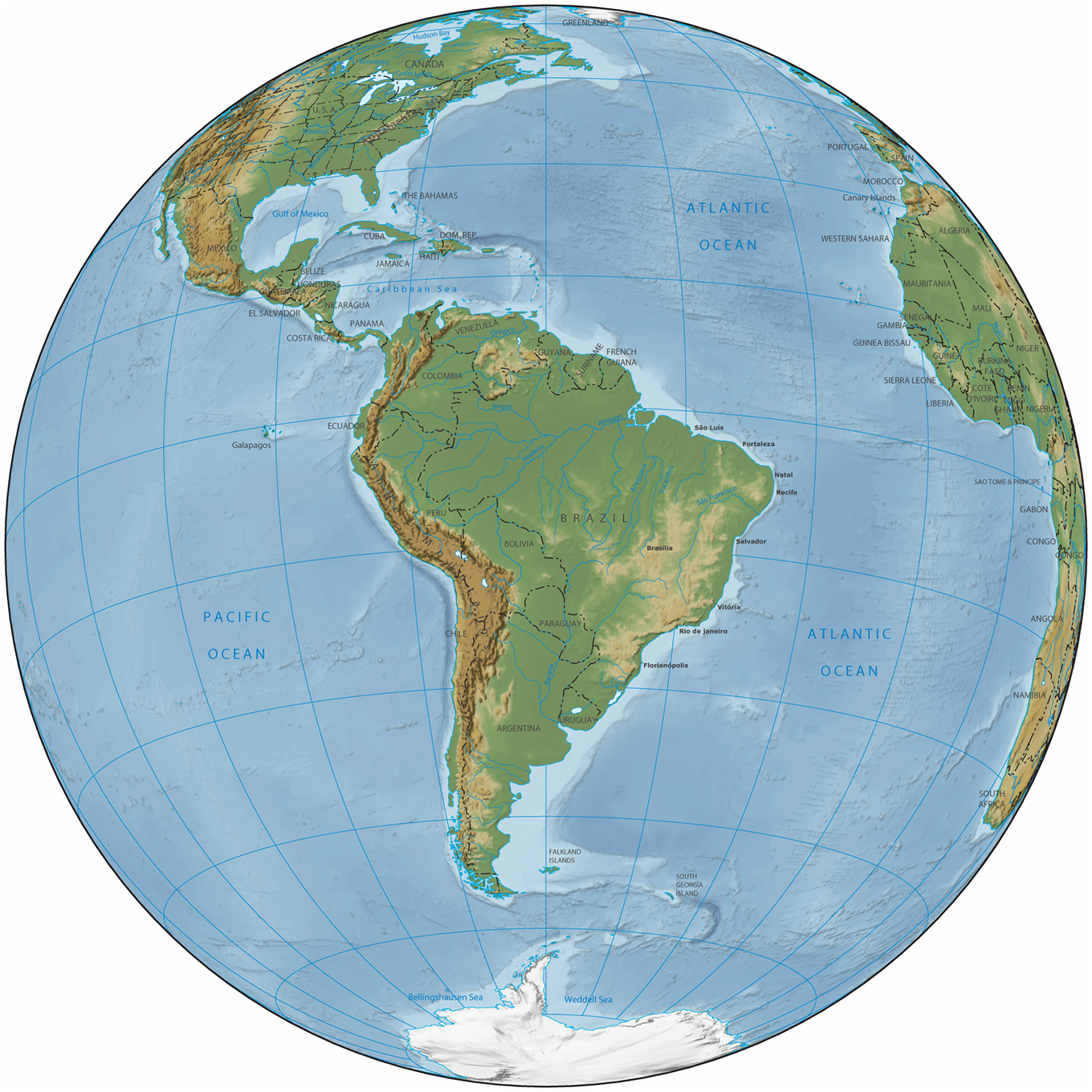 South America Map on haiti map, mexico map, italy map, australia map, india map, belize map, panama map, croatia map, africa map, uruguay map, morocco map, asia map, ecuador map, western hemisphere map, europe map, middle east map, zimbabwe map, spain map, costa rica map, argentina map,
