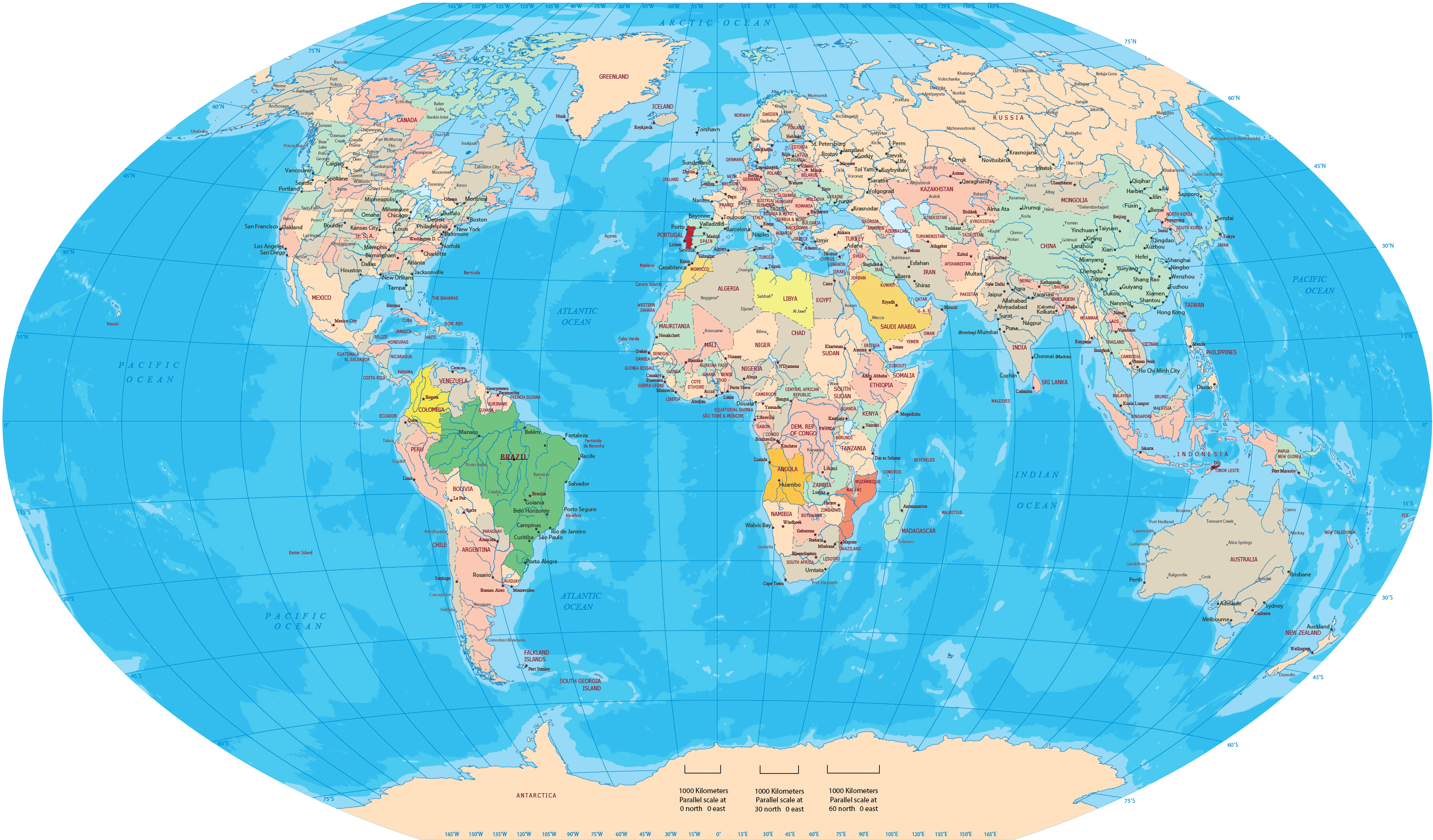 continent africa and globe