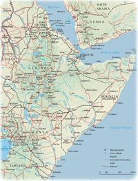 Indian Ocean Area Map - Africa, Asia, Oceania and Antarctica