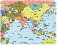 Geography Map Of Asia.Maps World Geographic Guide Travel
